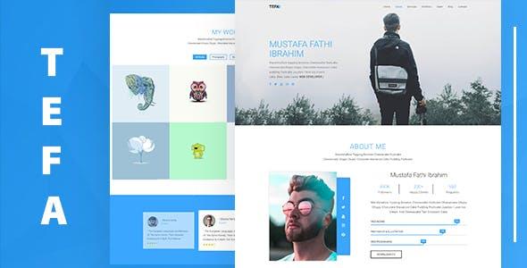 Tefa – One Page Portfolio Template