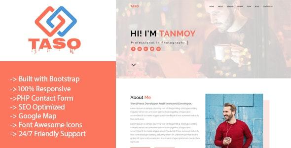 Taso - Personal Portfolio Template - Personal Site Templates