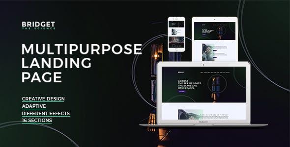 Bridget – Responsive HTML Landing Page