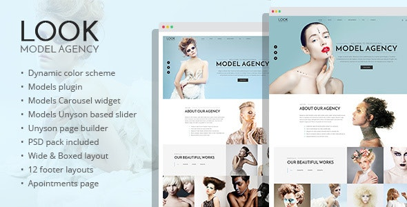 Look - fashion and model portfolio WordPress theme - Portfolio Creative