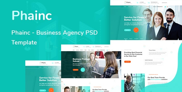 Phainc  - Business Agency PSD Template - Corporate Photoshop