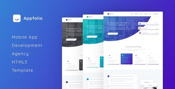 Appfolio - Mobile App Development Agency HTML5 Template - Creative Site Templates