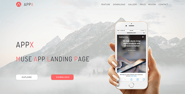 Download Appx_Muse App Landing Page
