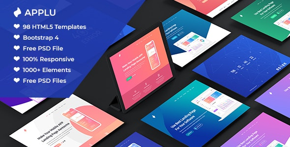 Applu - Creative App Landing Page and Software showcase - Technology Site Templates