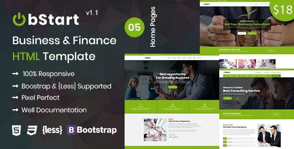 Bstart - Business & Finance HTML Template - Business Corporate