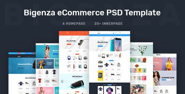 Enza Online Ping Ecommerce Cart Psd Template