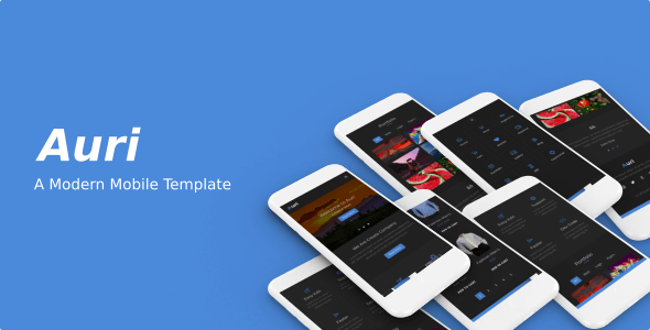 Auri - A Modern Mobile Template - Mobile Site Templates