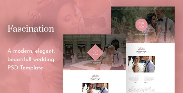 Fascination - Wedding PSD Template - Entertainment Photoshop