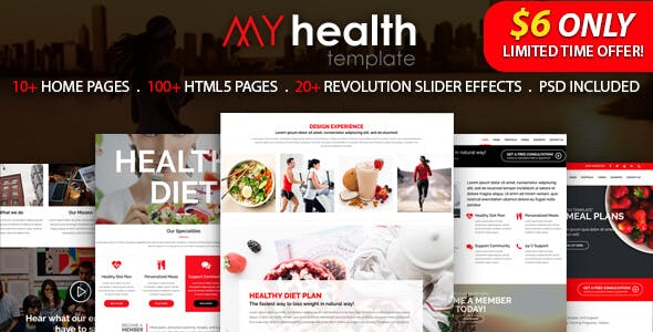 My Health - HTML5 Responsive Multi-Purpose Template