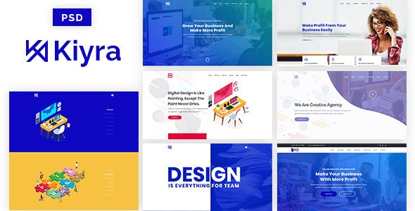 Kiyra - Ultimate Creative PSD Template - Creative Photoshop
