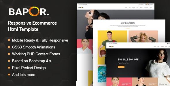 Bapor - E-commerce Bootstrap 4 Template