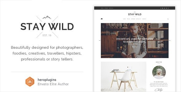 Stay Wild - A Clean Lifestyle Blog & Shop Theme - Personal Blog / Magazine