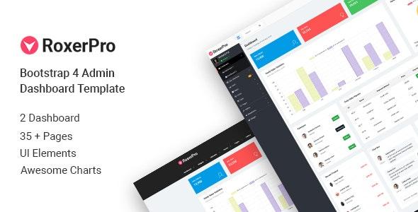 RoxerPro - Bootstrap Admin Dashboard Template - Admin Templates Site Templates