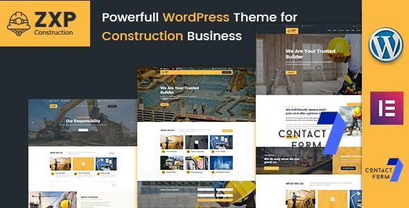 ZXP - Construction Building Company WordPress Theme - Business Corporate