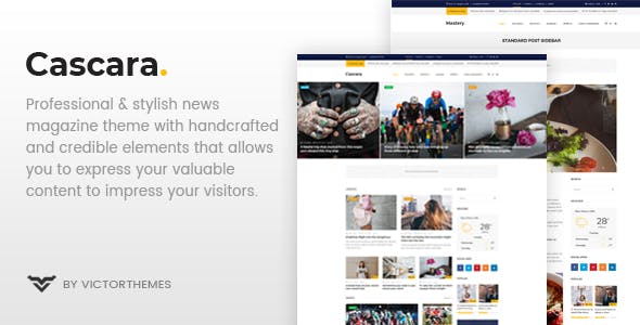 Cascara - Blog, News & Magazine WordPress Theme by VictorThemes