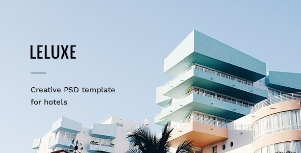 LeLuxe - Hotel PSD Template - Travel Retail