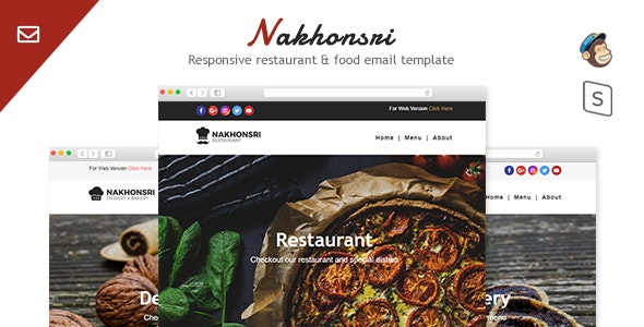 Nakhonsri - Responsive Restaurant & Food  Email Template - Email Templates Marketing