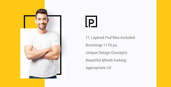 Pattirck - Personal Portfolio PSD Template. - Portfolio Creative