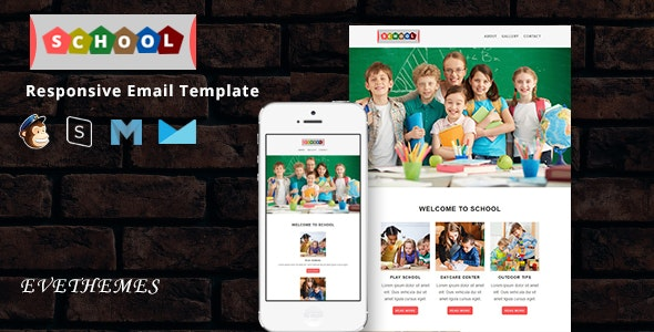 School - Responsive Email Template - Newsletters Email Templates