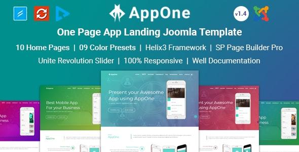 AppOne - App Landing Joomla Template - Joomla CMS Themes