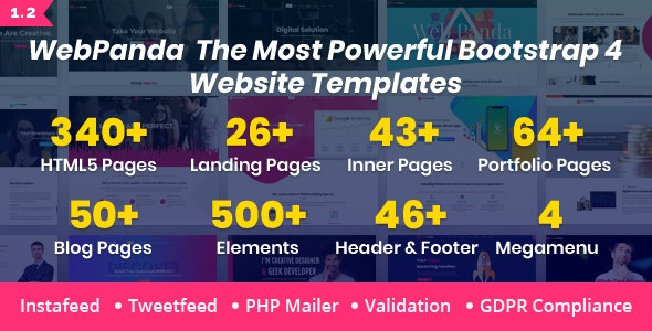 WebPanda - Bootstrap 4 Multipurpose Responsive HTML5