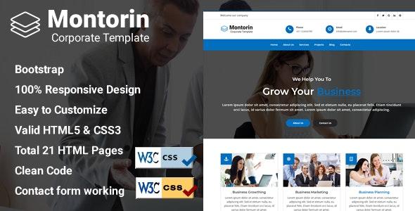 Montorin - Corporate Business Template - Business Corporate