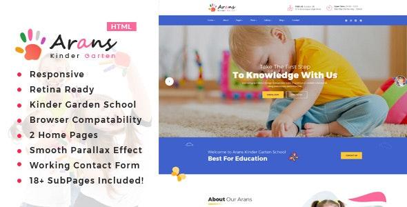 Arans - Kindergarten & School HTML Template - Children Retail