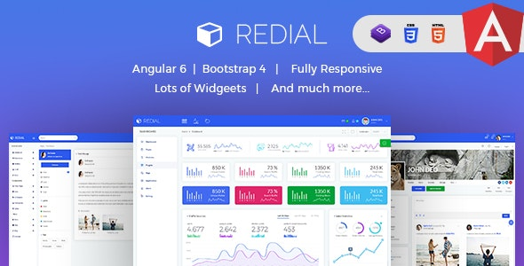 Redial - Multipurpose Angular 6 and Bootstrap 4 Admin Template - Admin Templates Site Templates