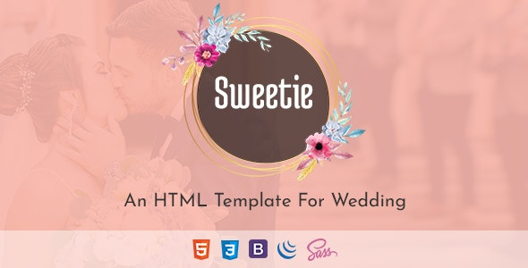 Sweetie - Responsive HTML Wedding Template - Wedding Site Templates