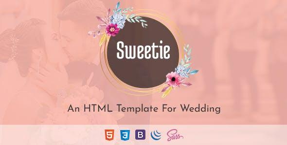 Download Sweetie - Responsive HTML Wedding Template
