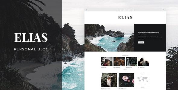 Elias - Blog & Shop PSD Template - Photoshop UI Templates