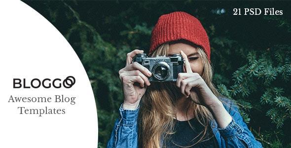 Bloggos - Multipurpose Blog PSD Template - Personal Photoshop