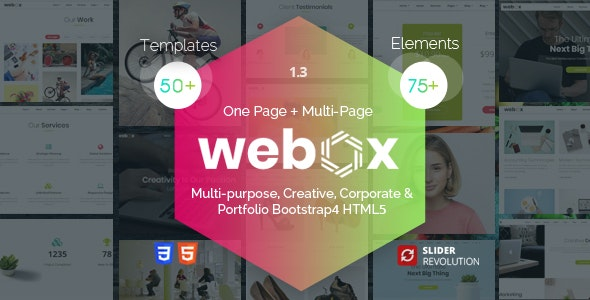 Webox - One Page Parallax - Portfolio Creative