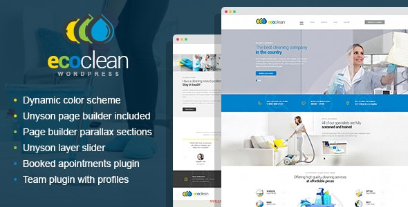 EcoClean - House Cleaning Company WordPress Theme - Health & Beauty Retail