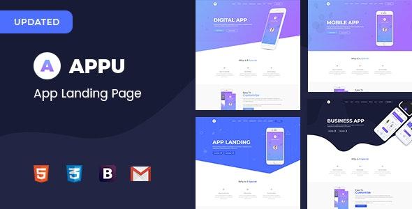 Appu App Landing Page - Technology Site Templates