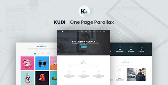 Kudi - One Page Parallax - Creative Site Templates