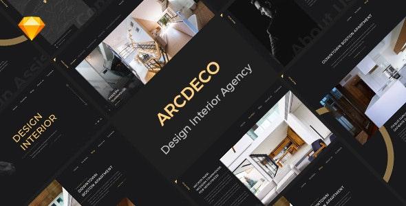 Arcdeco - Interior Design, Architecture & Decor Sketch Template - Sketch UI Templates