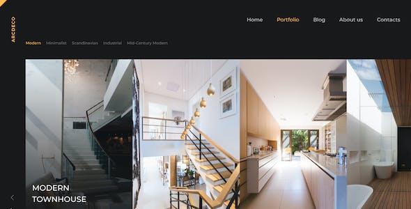Arcdeco - Interior Design, Architecture & Decor Sketch Template