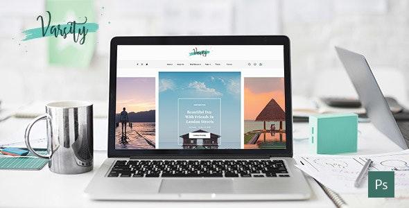 Varsity – Personal Blog PSD Template - Photoshop UI Templates