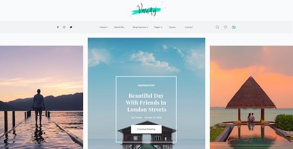 Varsity – Personal Blog PSD Template