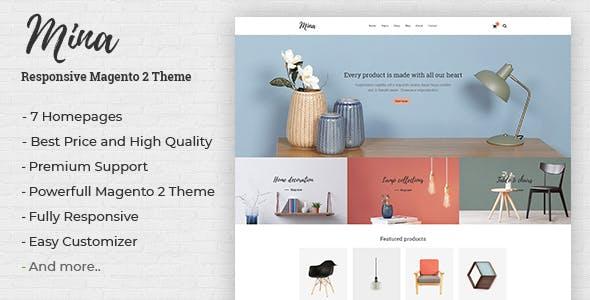 Mina - Responsive Furniture, Handmade Shop Magento 2 Theme
