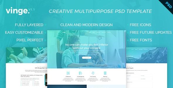 Vinge - Multi-Purpose PSD Template - Creative Photoshop
