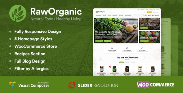 RawOrganic - Healthy Food Store - WooCommerce eCommerce