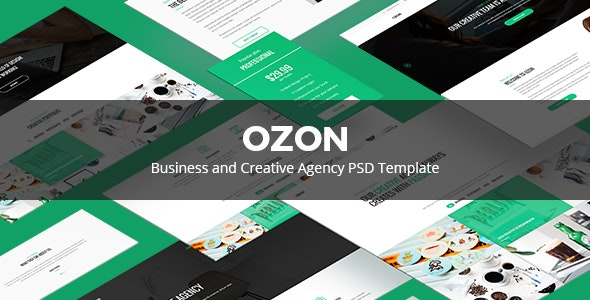 Ozon – Business and Creative Agency PSD Temaplate - Creative Photoshop