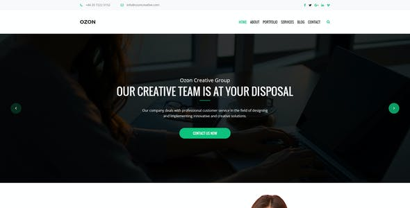 Ozon – Business and Creative Agency PSD Temaplate