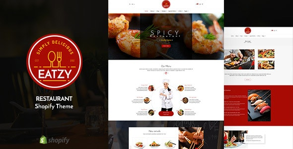 Eatzy | Restaurant Sectioned Shopify Theme - Shopify eCommerce