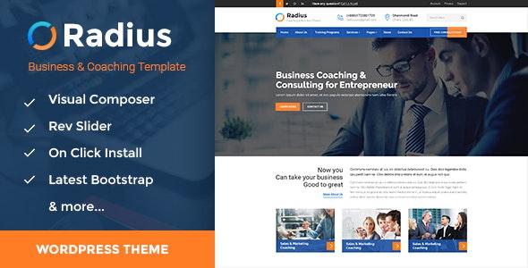 Radius - Business Training WordPress Theme - Business Corporate