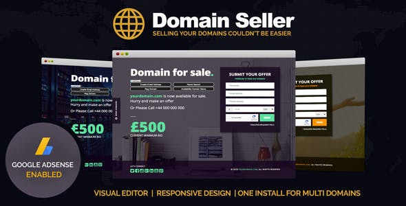 Sell Domain Templates from ThemeForest