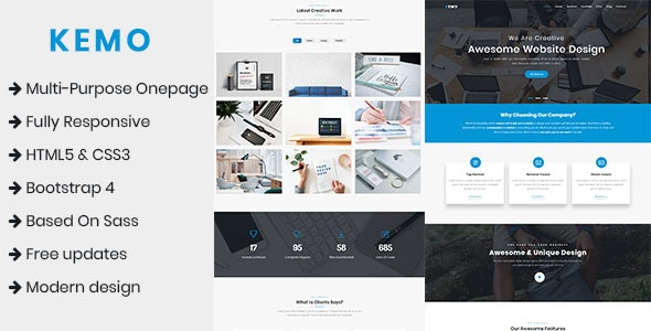 Kemo - Multi-Purpose Onepage Template - Corporate Site Templates