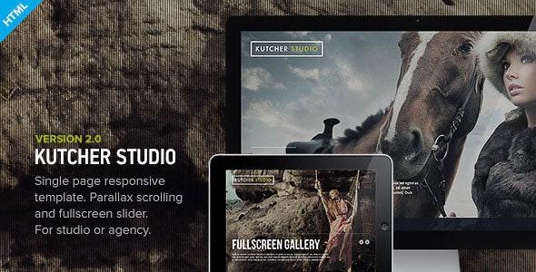Kutcher Studio - Responsive Parallax Template - Creative Site Templates